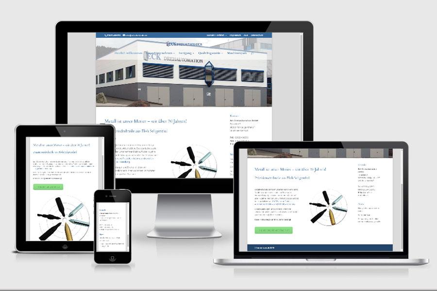 Webdesign aus Erfurt: Referenz Eck Drehautomation aus Struth-Helmershof