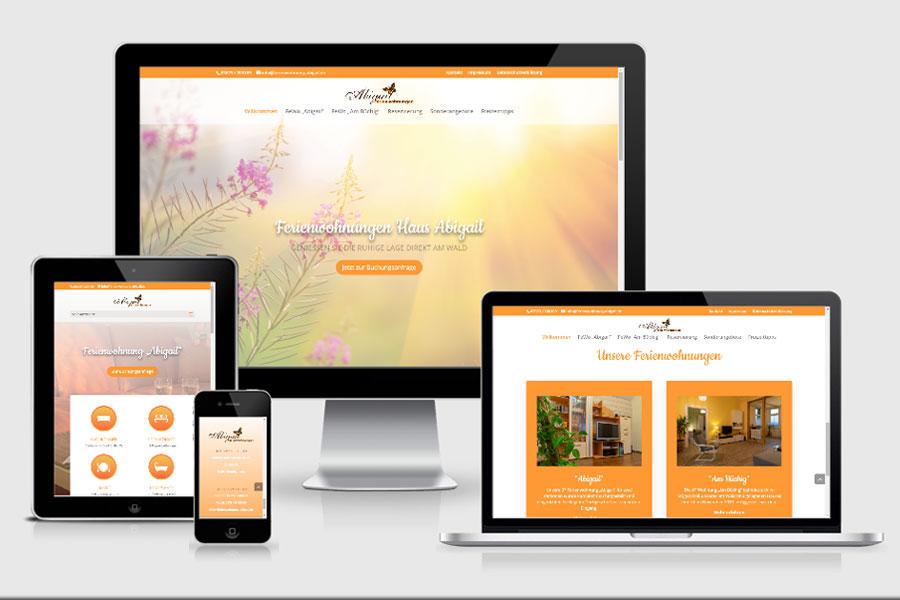 Webdesign aus Erfurt: Referenz Ferienwohnung Abigail aus Friedrichroda
