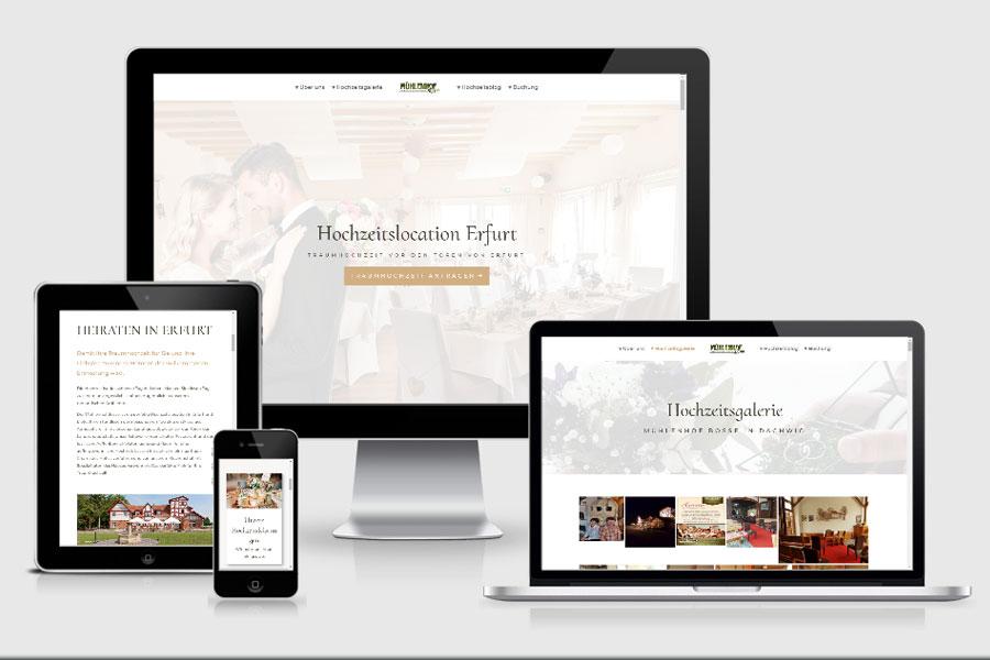 Webdesign aus Erfurt: Referenz Hochzeitslocation Erfurt aus Dachwig