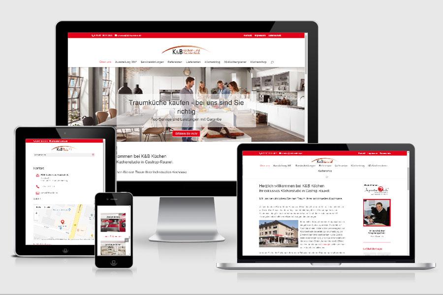 Webdesign aus Erfurt: Referenz KB-Küchen aus Castrop-Rauxel