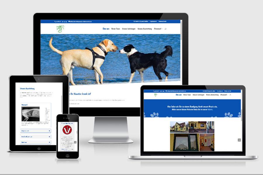 Webdesign aus Erfurt: Referenz Kleintierpraxis Dobrowohl aus Bergen