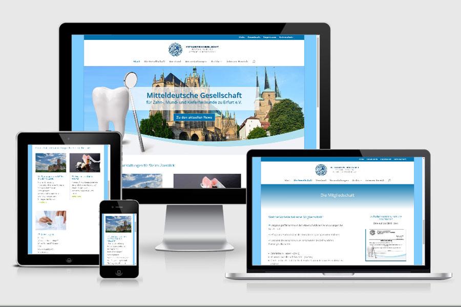 Webdesign aus Erfurt: Referenz Mitteldeutsche Gesellschaft für Zahn-, Mund- und Kieferheilkunde zu Erfurt e.V.