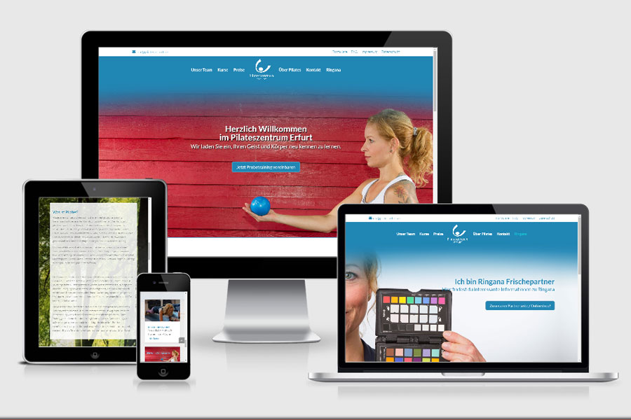 Webdesign aus Erfurt: Referenz Pilateszentrum aus Erfurt